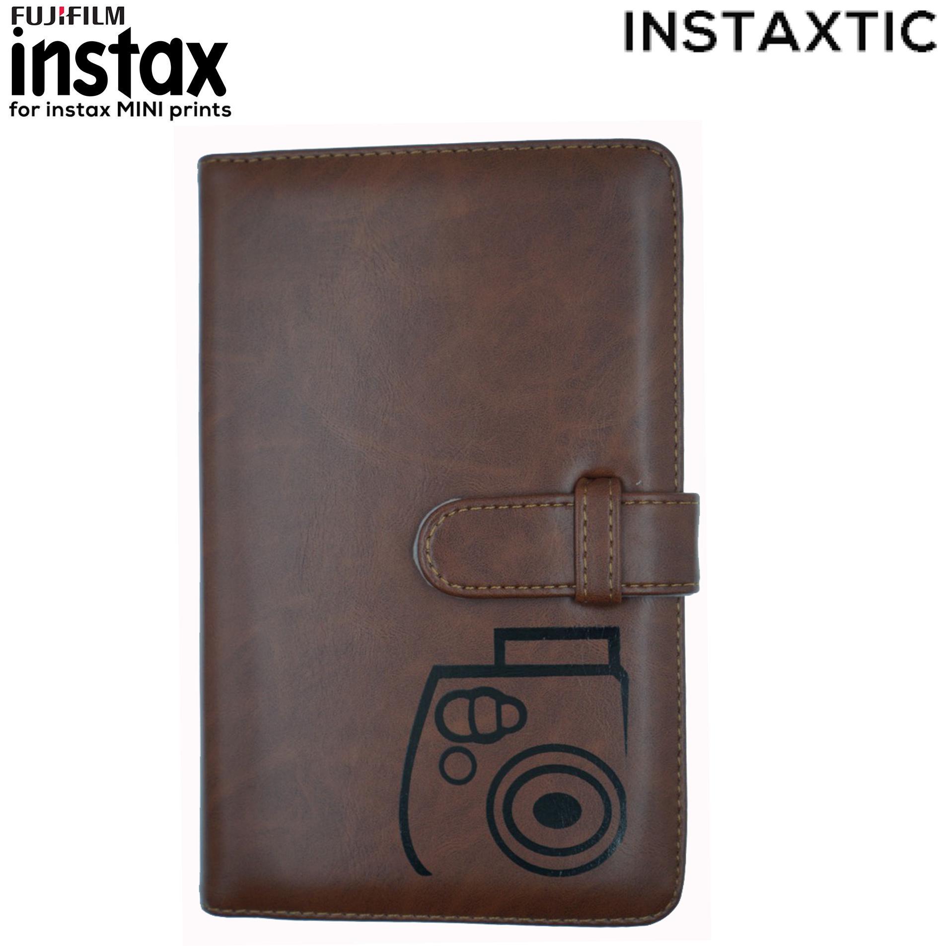Instaxtic Fujifilm Instax Mini 96 Slots Printed Leather Album By Instaxtic.