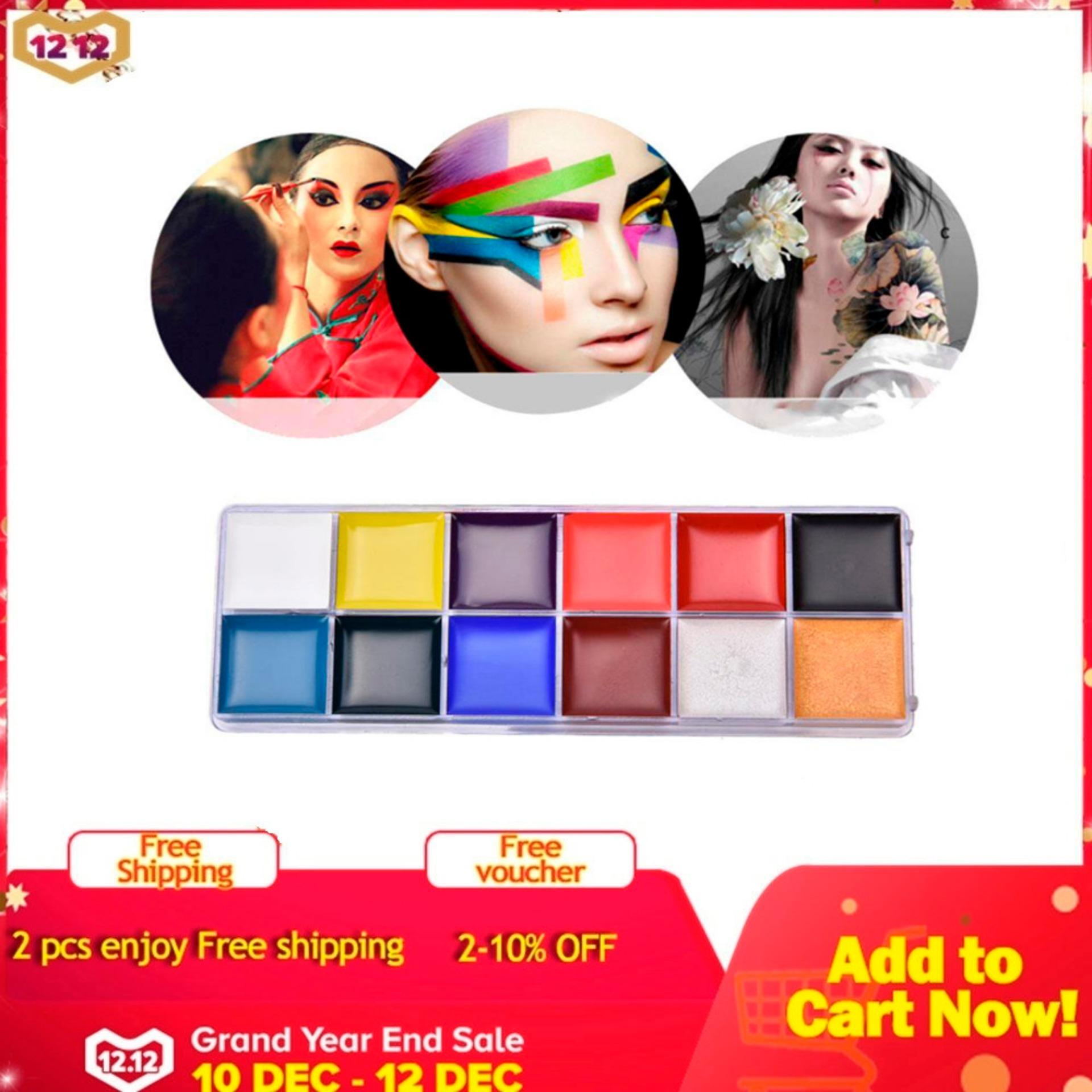 niceEshop Face Painting Kits For Kids,12 Colors Non-Toxic Body Face Painting Kits