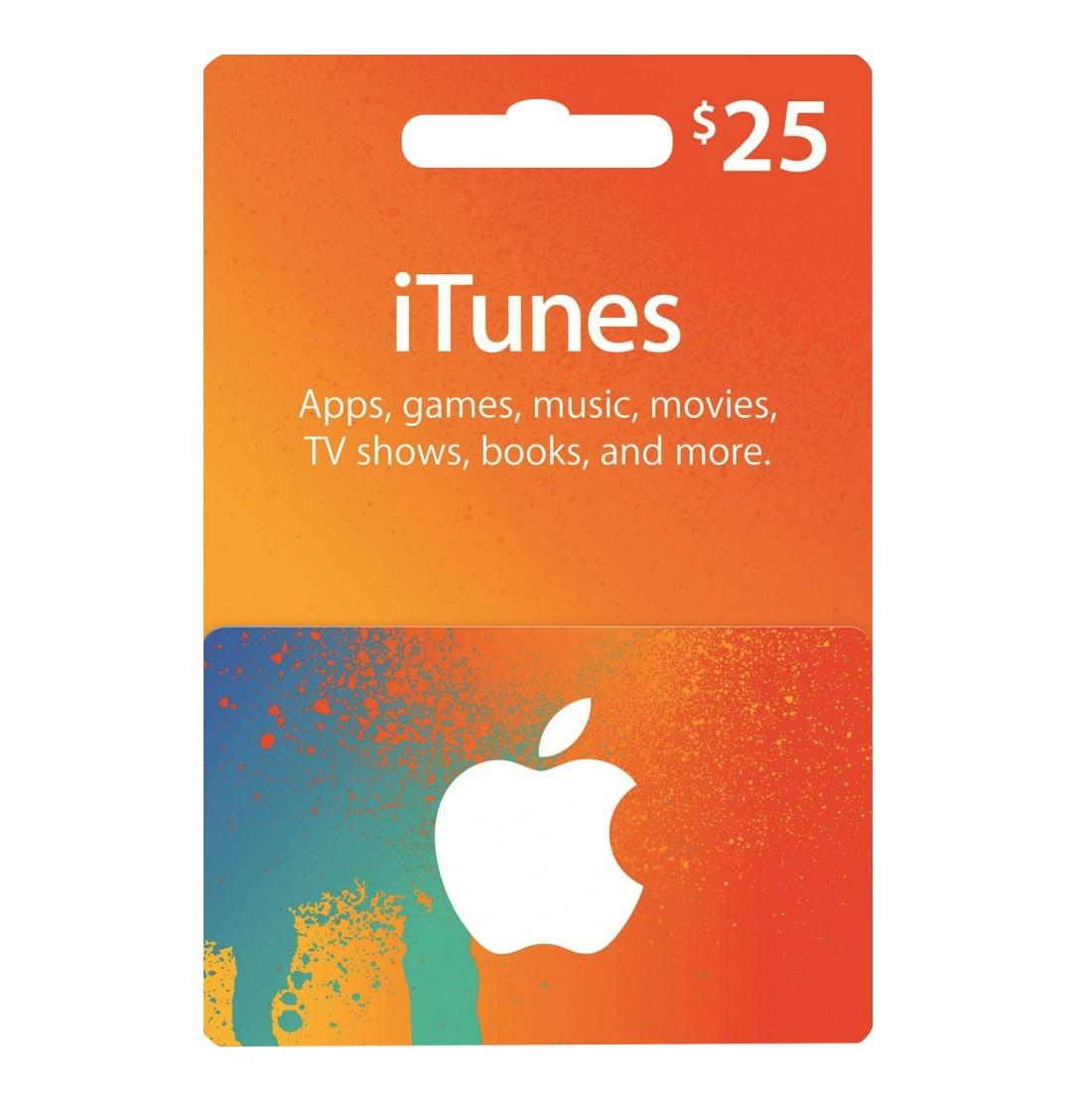 $25 US App Store & iTunes Gift Card - Fast E-mail Delivery