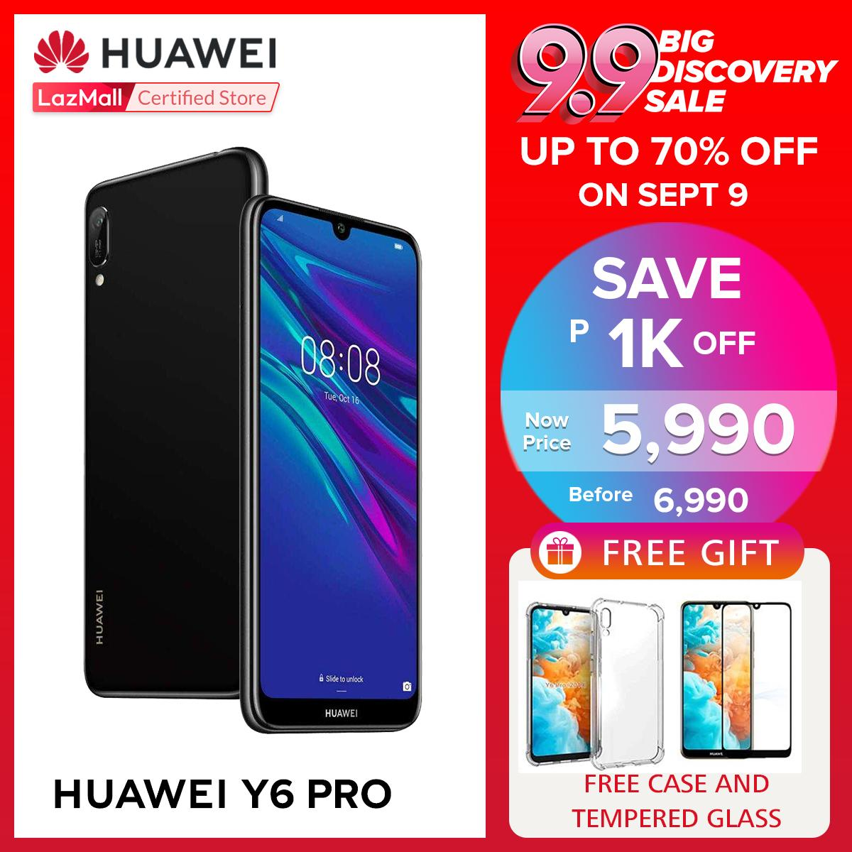 Huawei Y6 Pro 2019 32GB/3GB with Free Case and Tempered Glass