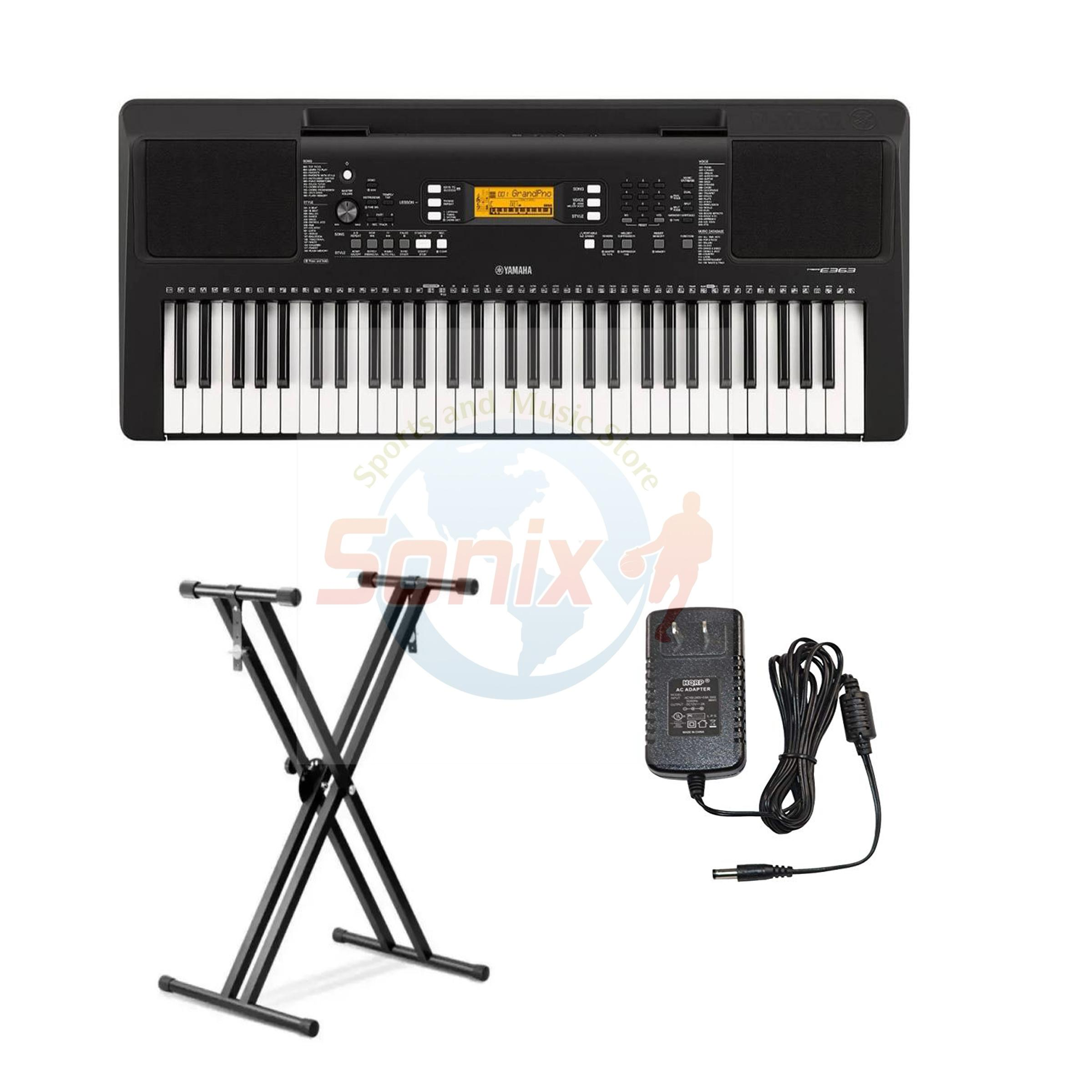 Yamaha PSR 363 Portable Keyboard with Double-X Stand