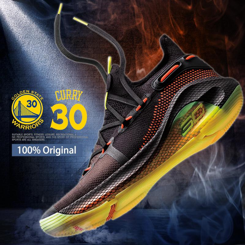 4cc59b8002da4 Curry 6 Shoes for Men BAsketball shoes NBA Golden State Warriors  Championship 30# Stephen Curry men sport running sneakers