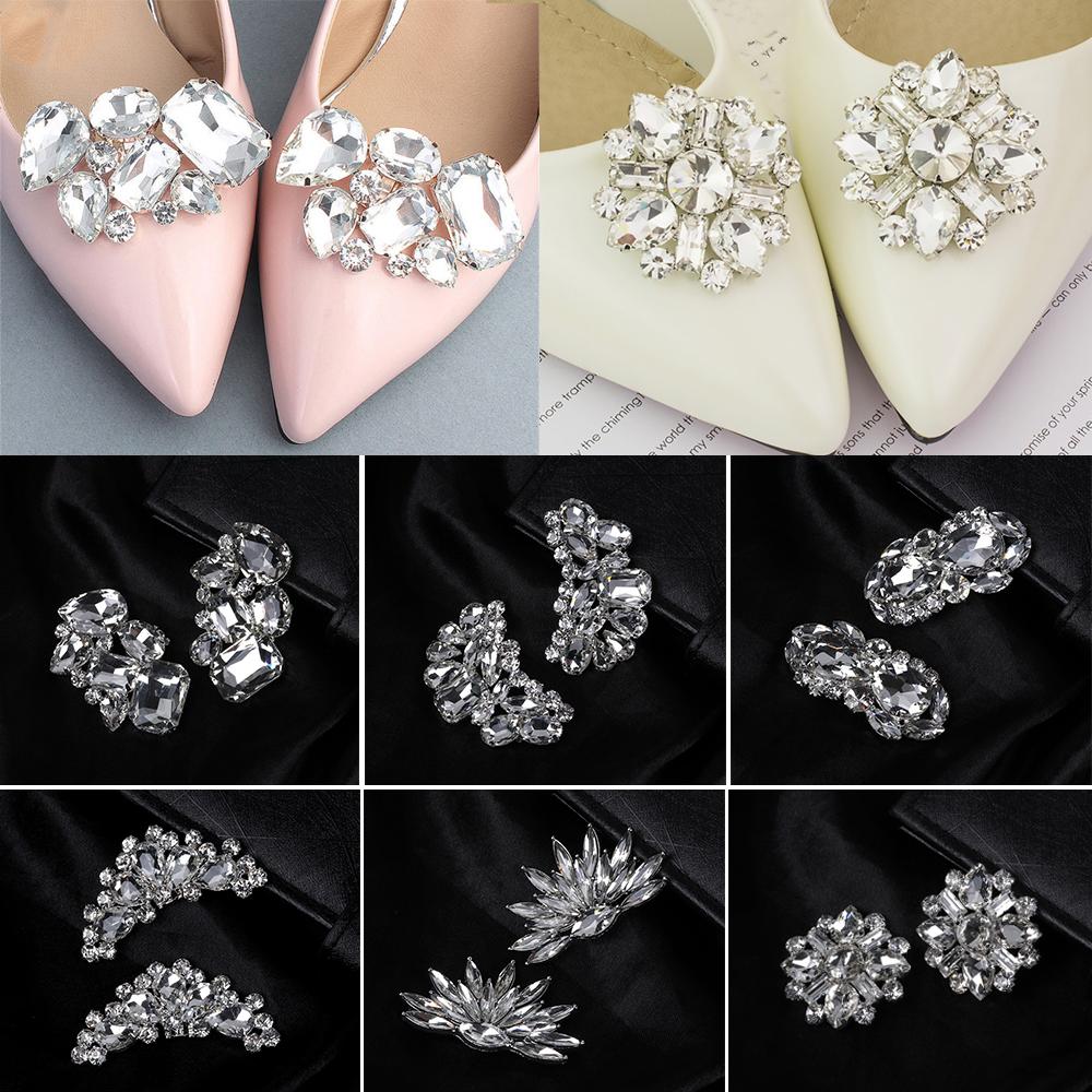 Shiny Decorative Clips Wedding Shoe Decorations Shoe Clip Charm Buckle