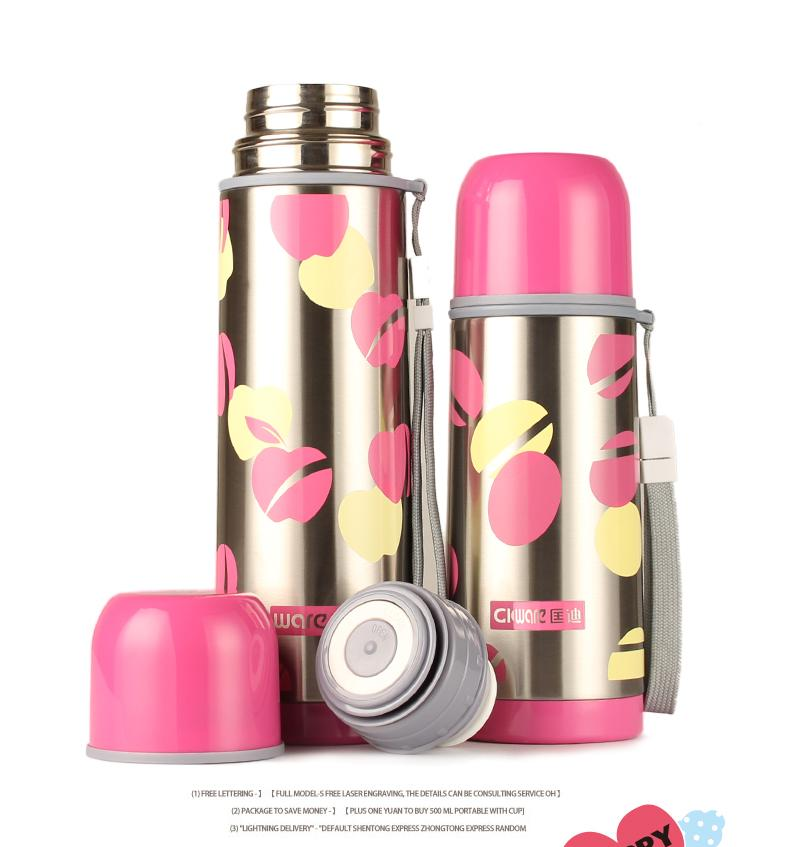 Stainless Steel Thermos Bottle / Vacuum Flasks W/ Cup Cover By Acrazyshop.