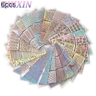 Zhixin 6 12 24 Tờ DIY Nail Art Vinyls Khuôn Stear Hollow Mẫu Hướng Dẫn Dán thumbnail