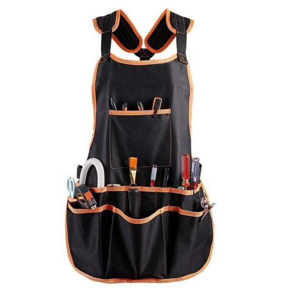 Work Apron tool 16 Tool Pockets tool belt Adjustable vest Tool Apron for mans work apron and women work apron with waterproof apron and Canvas apron