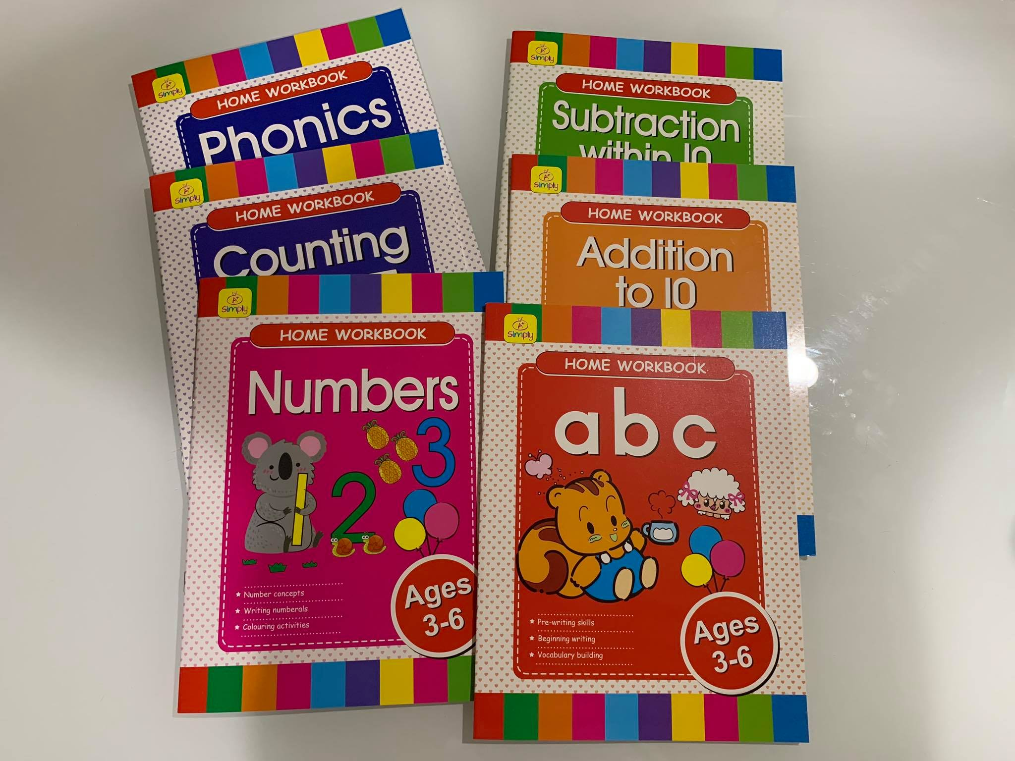 CHILDREN/'S LEARNING HOME WORKBOOK    NUMBERS   AGE 3-6   40 PAGE BOOKLET