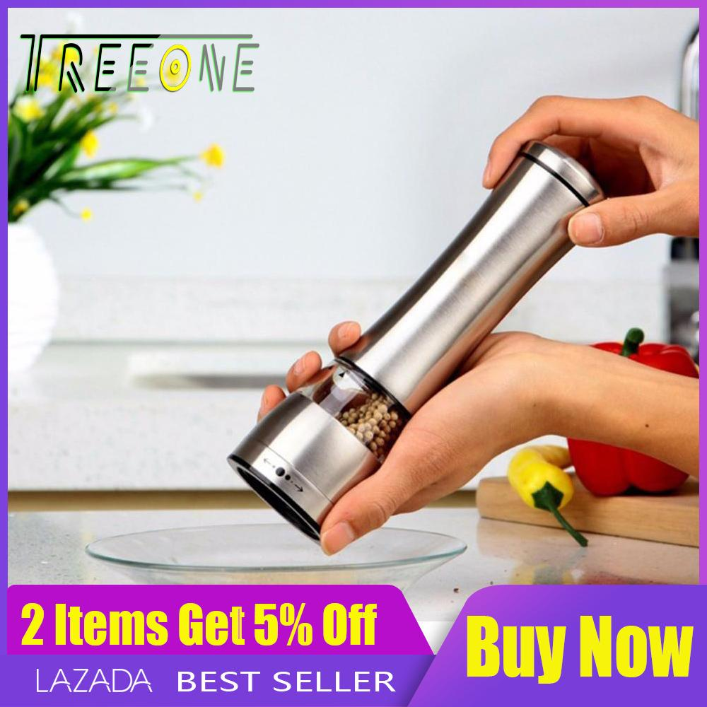 [free Shipping]premium Stainless Steel Adjustable Manual Salt Spice Pepper Mill Ceramic Rotor Grinder Tools Salt And Pepper Shakers By Treeone.