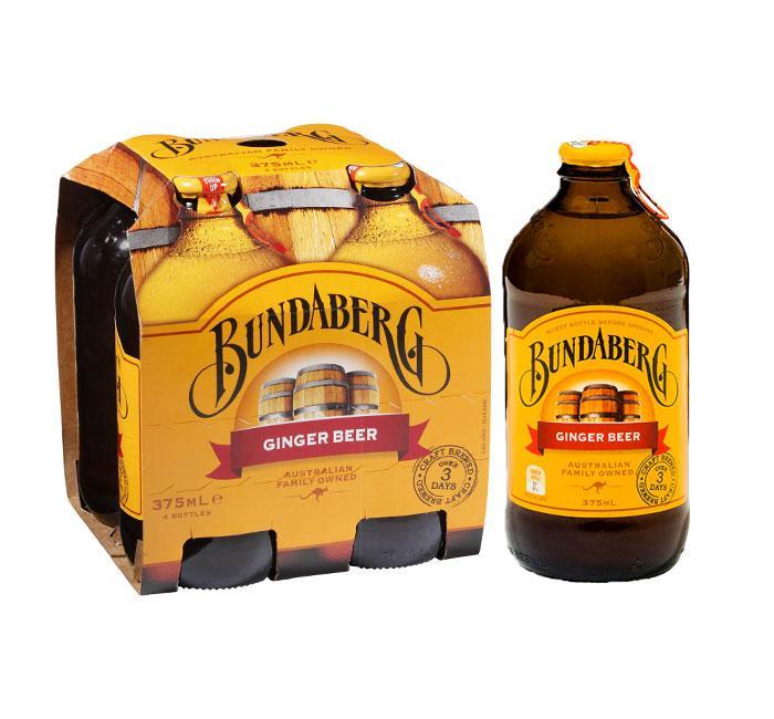 Bundaberg Ginger Ale (non Alcoholic) 4-Pack By Jj Stash Partner.