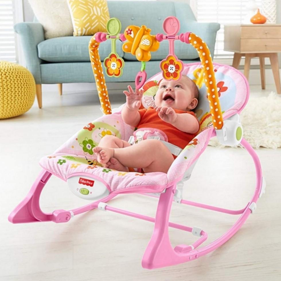 Sensational Fisher Price Infant To Toddler Rocker Pink Inzonedesignstudio Interior Chair Design Inzonedesignstudiocom