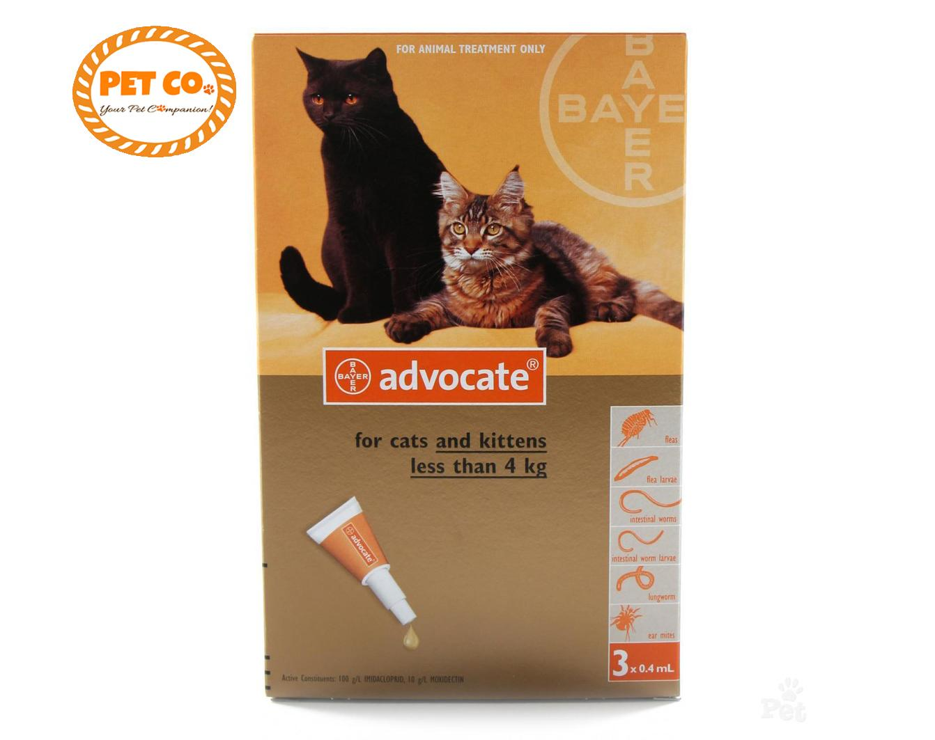 Advocate Flea And Tick Promo (less Than 4kg) Spot On For Cats Per Piece By Pet Co..