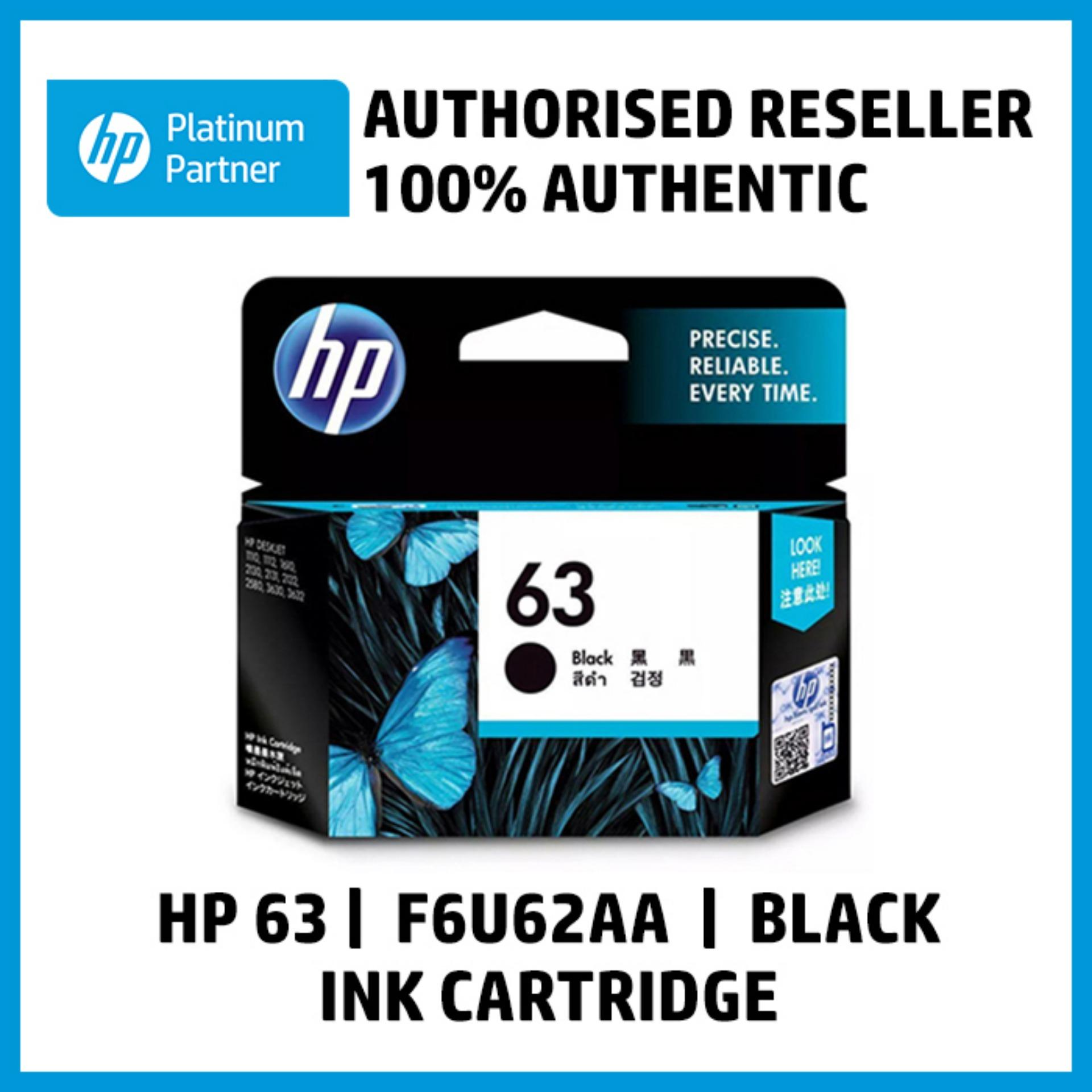 Hp 63 Black Original Ink Cartridge (f6u62aa) By Integrated Computer Systems, Inc..