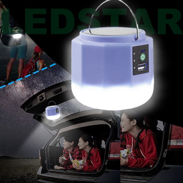 Camping Flashlight Tent Lights- Remote 1000LM 5 Light Modes 2400mah Power Bank Solar Charge Portable Lantern Outdoor Camping Travel Fishing Hiking Light APPLL LED Camping Lantern Rechargeable