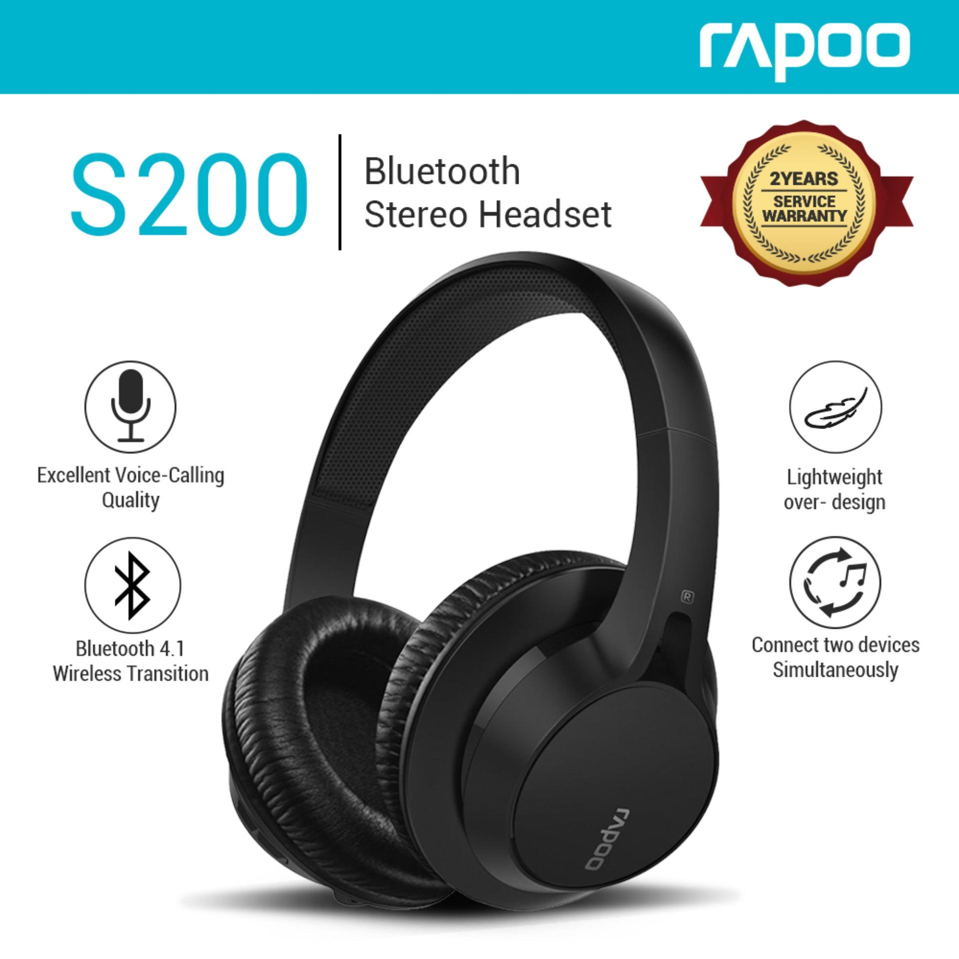 22ccdd799b1 Product details of Rapoo S200 Bluetooth 4.1 Middle Level Over Ear Headset  Stereo Headphones