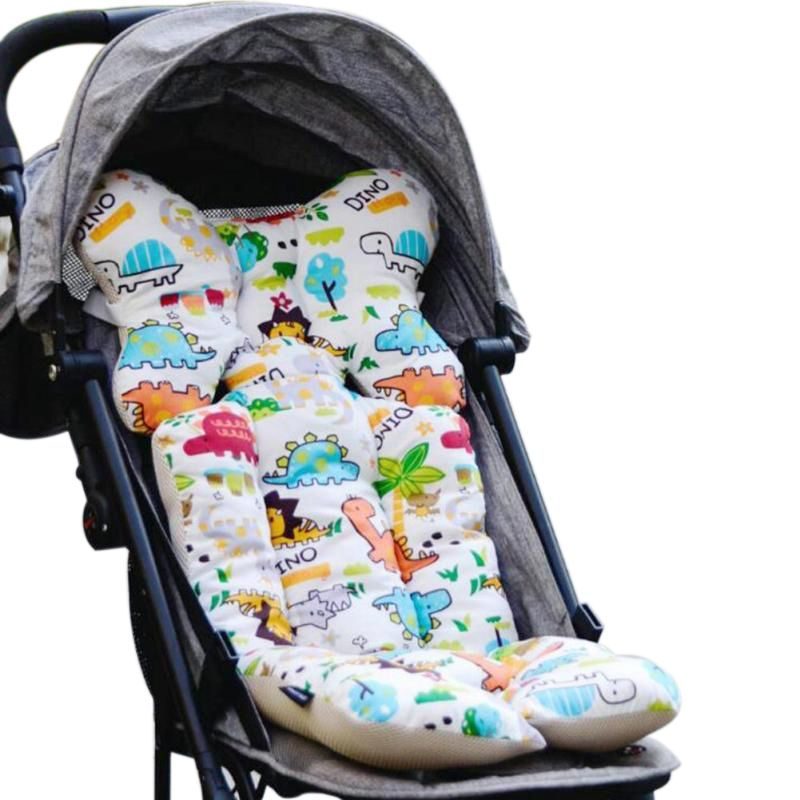 Baby Printed Stroller Pad Seat Warm Cushion Pad mattresses Pillow Cover Child Carriage Cart Thicken Pad Trolley Chair CushionA5 animal Singapore