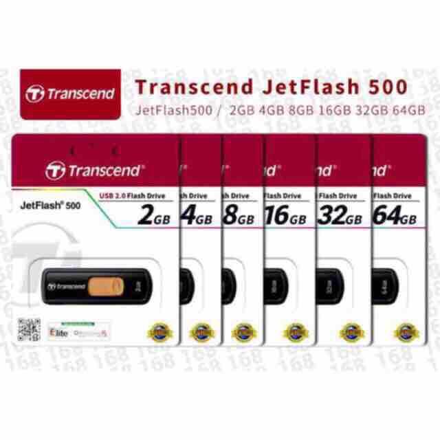 Original Transcend USB Flash Drive JetFlash 500 2GB 4GB 8GB 16GB 32GB 64GB
