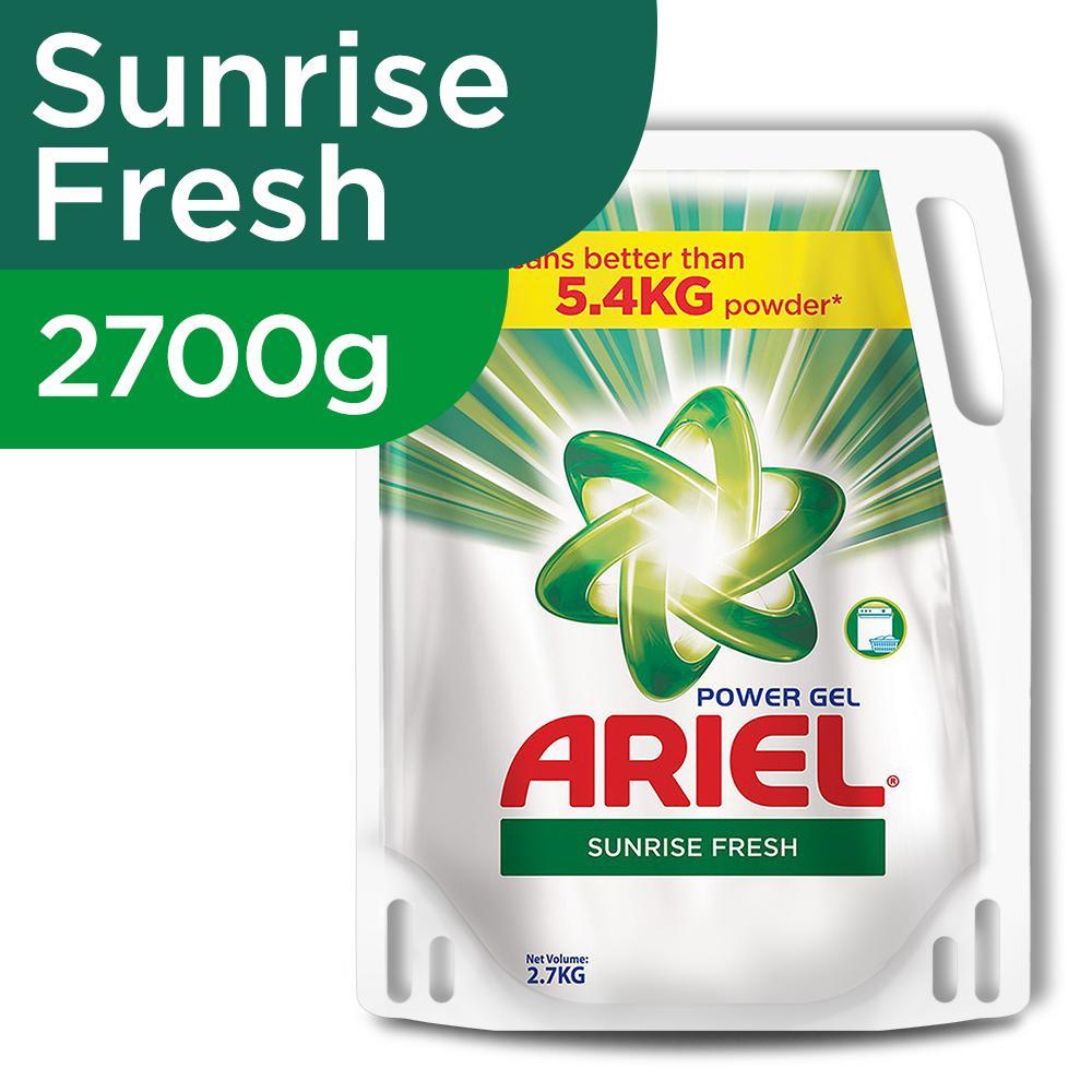 Ariel Power Gel Sunrise Fresh Liquid Detergent 2700g