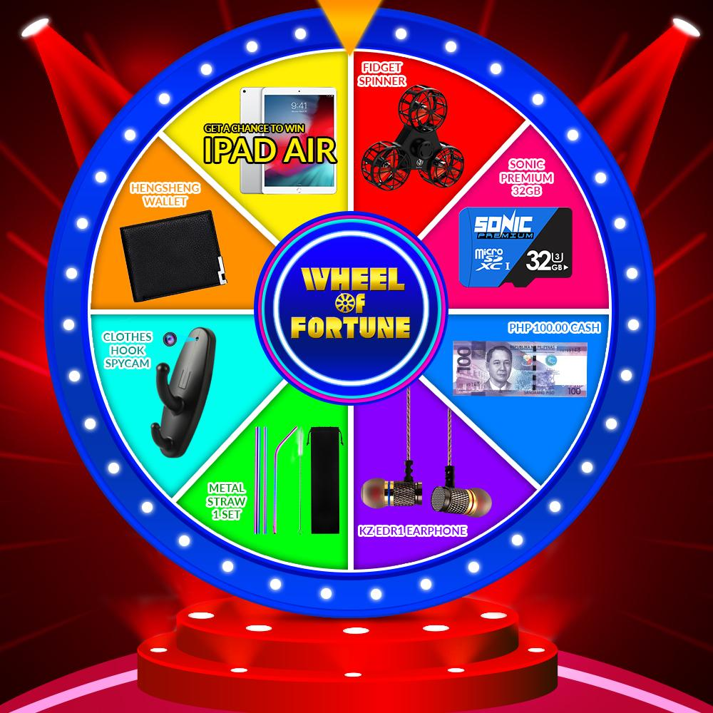 Mystery Box / Wheel of Fortune Pay ₱69 and Get a Chance to Win iPad Air image