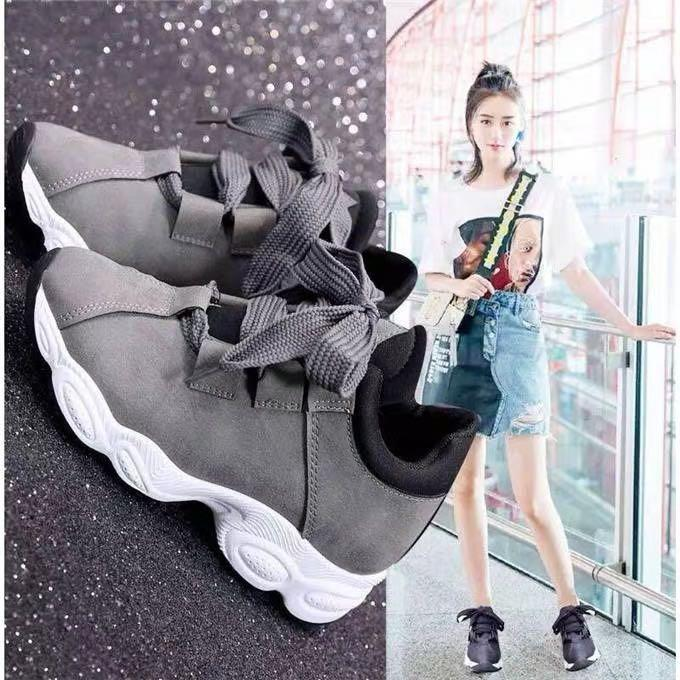 65babb0e2 QQS 2019 Korean version of the new breathable wild running casual shoes
