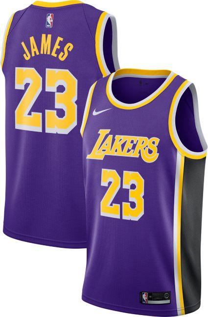best website a1033 d32af LAKERS JERSEY LEBRON WHITE VIOLET YELLOW CITY JERSEY