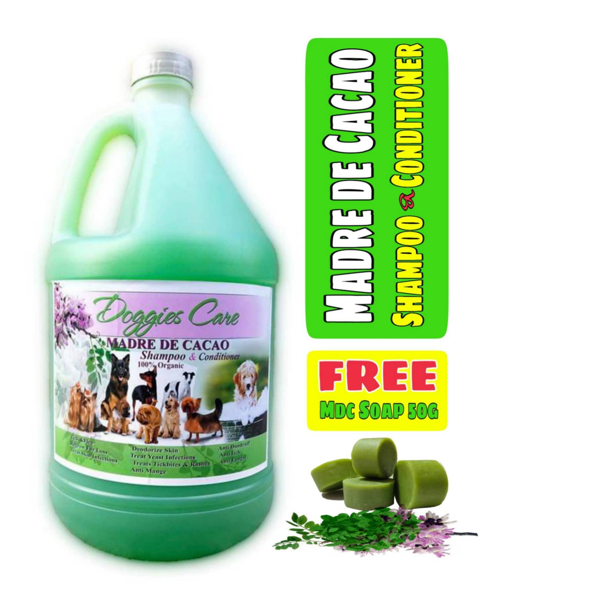 Madre De Cacao Shampoo & Conditioner With Guava Extract - Baby Powder Scent 1 Gallon Green Free Mdc Soap 50g By Madre De Cacao Doggiescare.