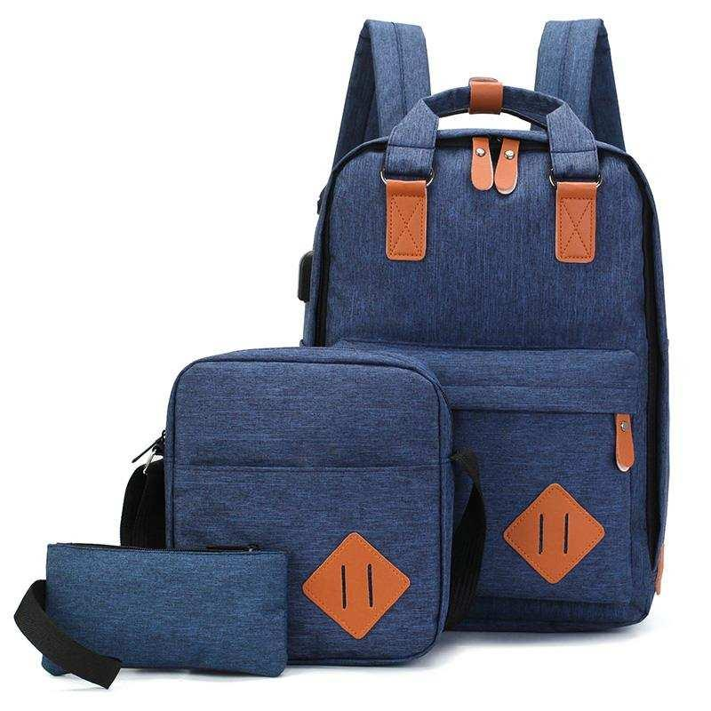 75d30448396 NEW TIME 3 in 1 Men Backpack Travel Backpack Laptop Bag Laptop Backpack  with Cross Body