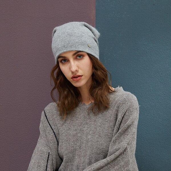 d66829e6 Winter Hats For Woman Beanies Rabbit Hair Knitted Hat Girls Autumn Female  Beanie Warmer Bonnet Ladies