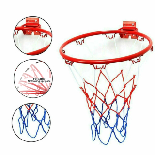 Outdoor 32cm 4 Rim Metal Hanging Goal Ball Stand Wall Mounted Basketball Hoop thumbnail
