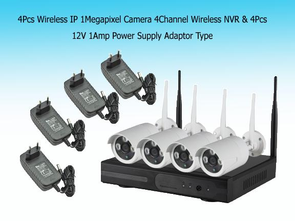 VESAFE wireless CCTV PACKAGE 4 CAMERAS 4 channel 720P 500gb hdd