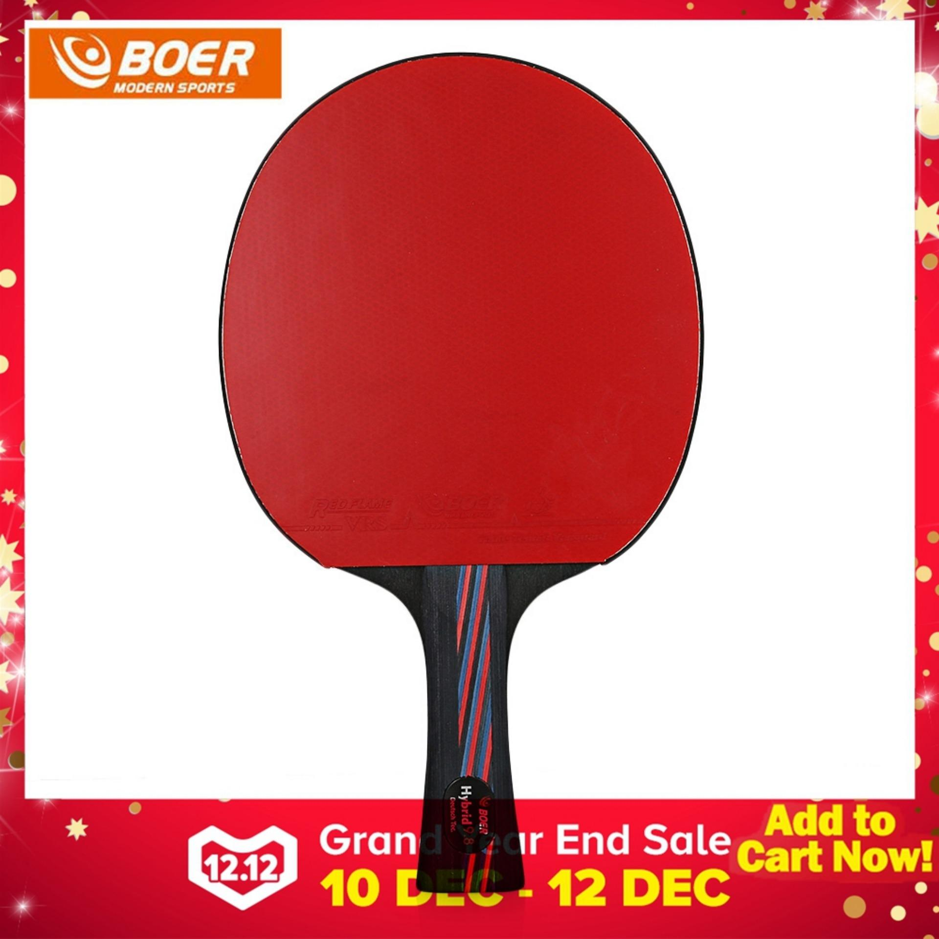 Boer Shake-Hand Grip Outdoor Table Tennis Lightweight Ping Pong Racket Paddle With Storing Bag - Intl By Houselife.