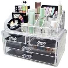 Acrylic Cosmetic Organizer 4 Drawers Drawer Makeup Storage Box Holder Case New Philippines