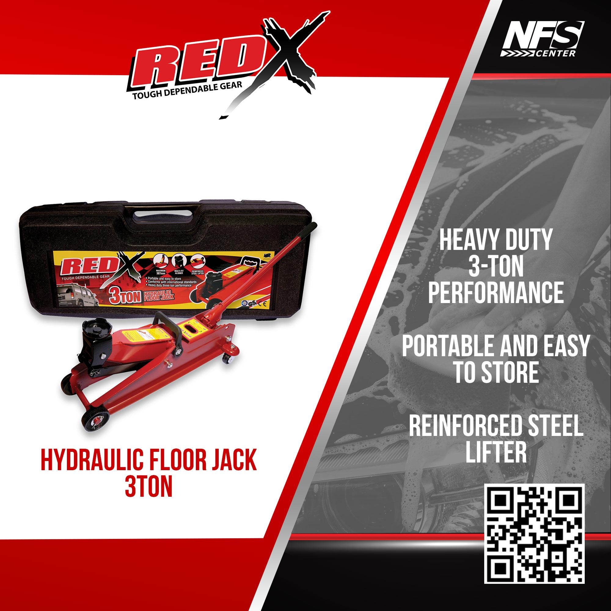 Nfsc - Red X Hydraulic Floor Jack 3ton By Nfsc.