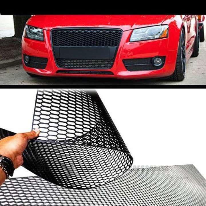 120x40cm Car Racing Honeycomb Mesh Grill Vent ABS Plastic Universal Black