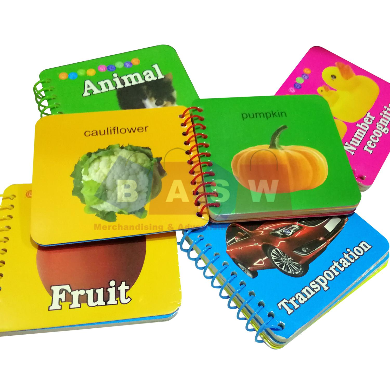Kids Learning Flash Cards Baby Books Educational Books kids todler learning  books 5PCS Flash Card