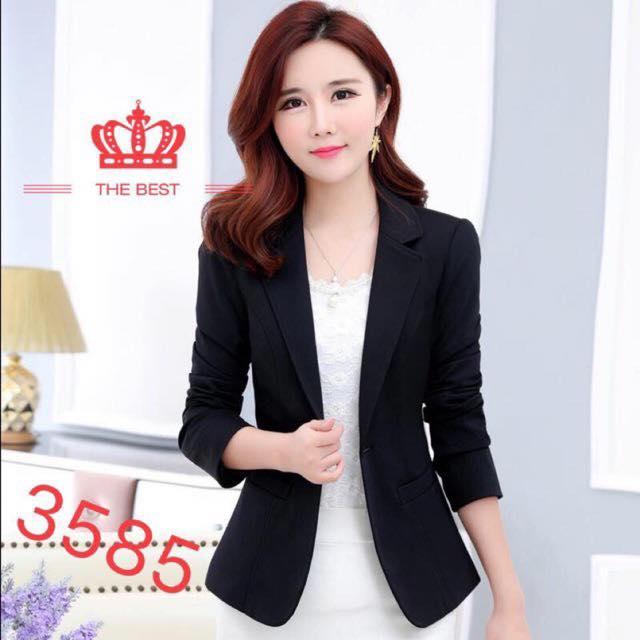 Blazers 2018 Womens Suit Small Suit Korean Jacket Short Suit Small Suit Body Jacket Ol Work Clothes Black White Blue Purple And Red Suits & Sets