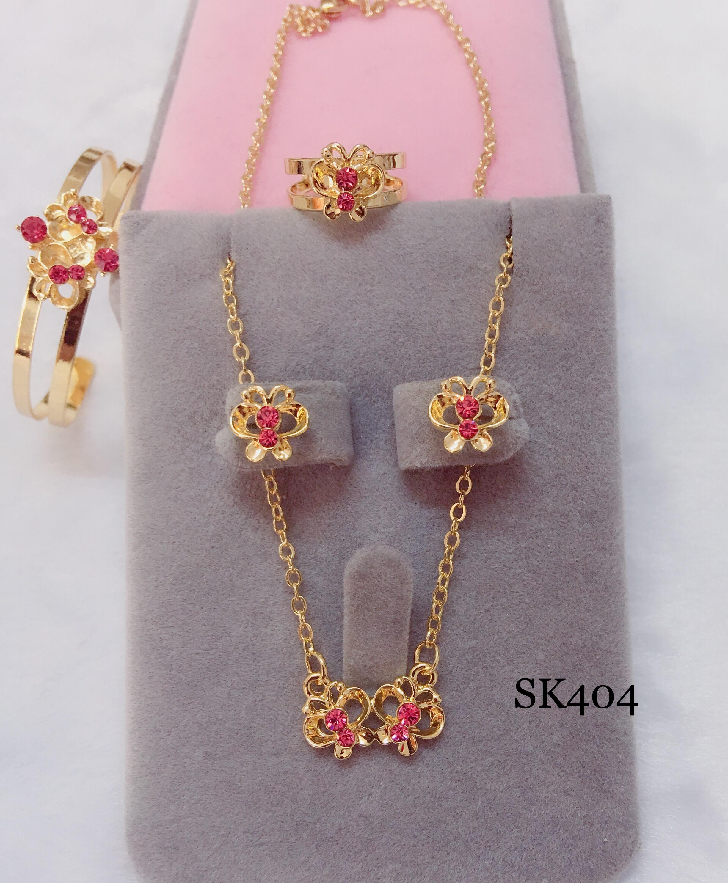 Sk404 18k Rose Gold Butterfly 4 In 1 Set For Kids By Miss M Shop.