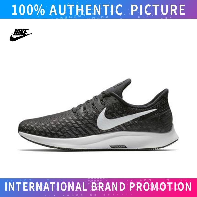 Zywoo NIKE_AIR ZOOM PEGASUS 35 Sepatu Sneaker Unisex Jalan Kanvas Rendah Atas Untuk Mens Dan Womens Sepatu Skateboard (Hitam Putih)