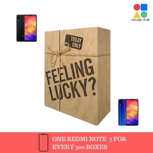 Mystery Box With A Chance To Win Redmi Note 7(1 In Every 200 Boxes) Global Version By House Of Fun.