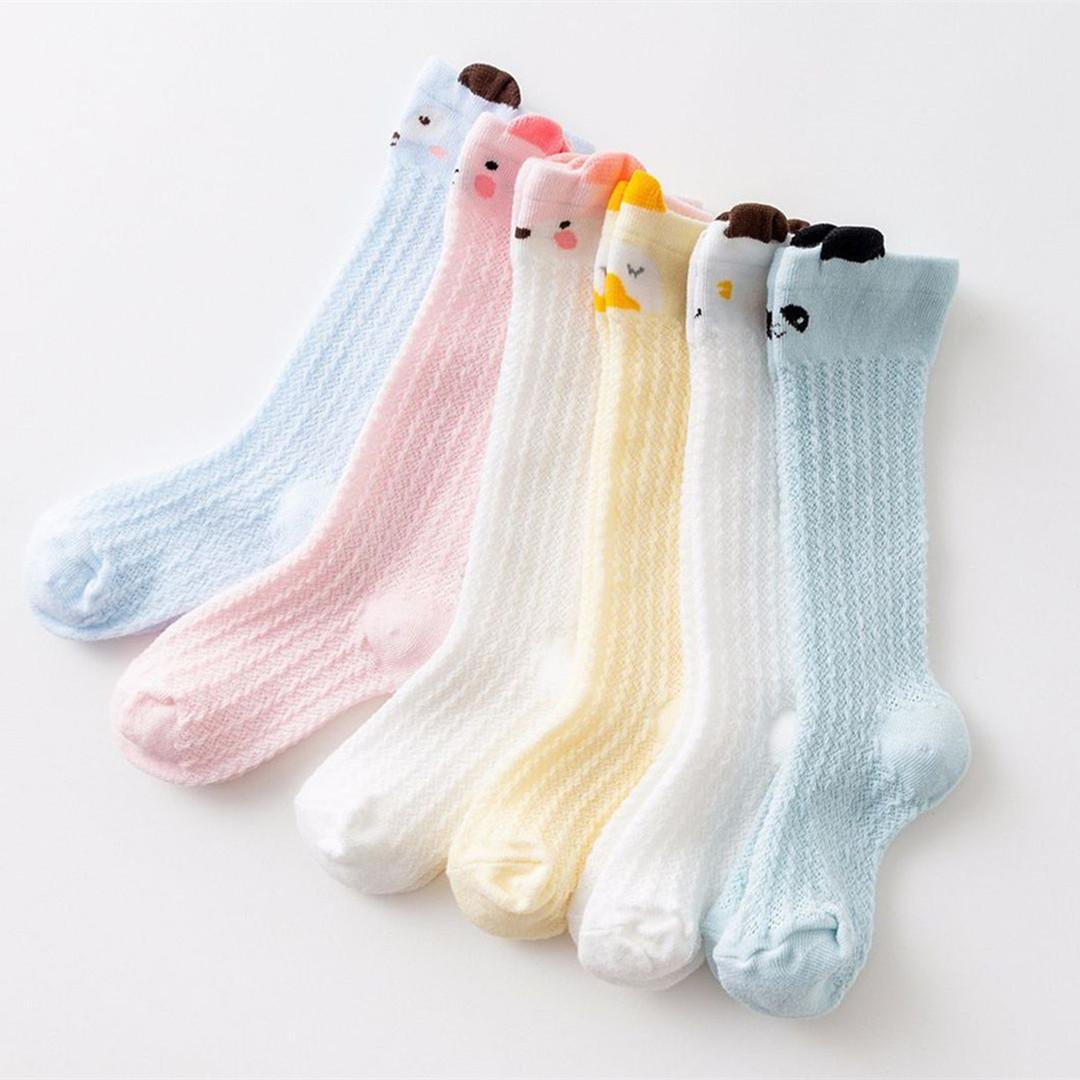 0ef3b1420 Baby Girls Lovely Socks Toddler Knee Socks for Newborns Soft Cotton Cute  Cartoon Leg Warmer Children