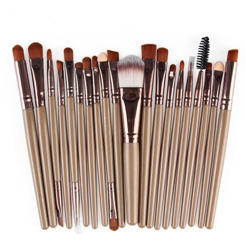 20Pcs Comestic Eyeshadow Makeup Brushes Set (Coffee) Philippines