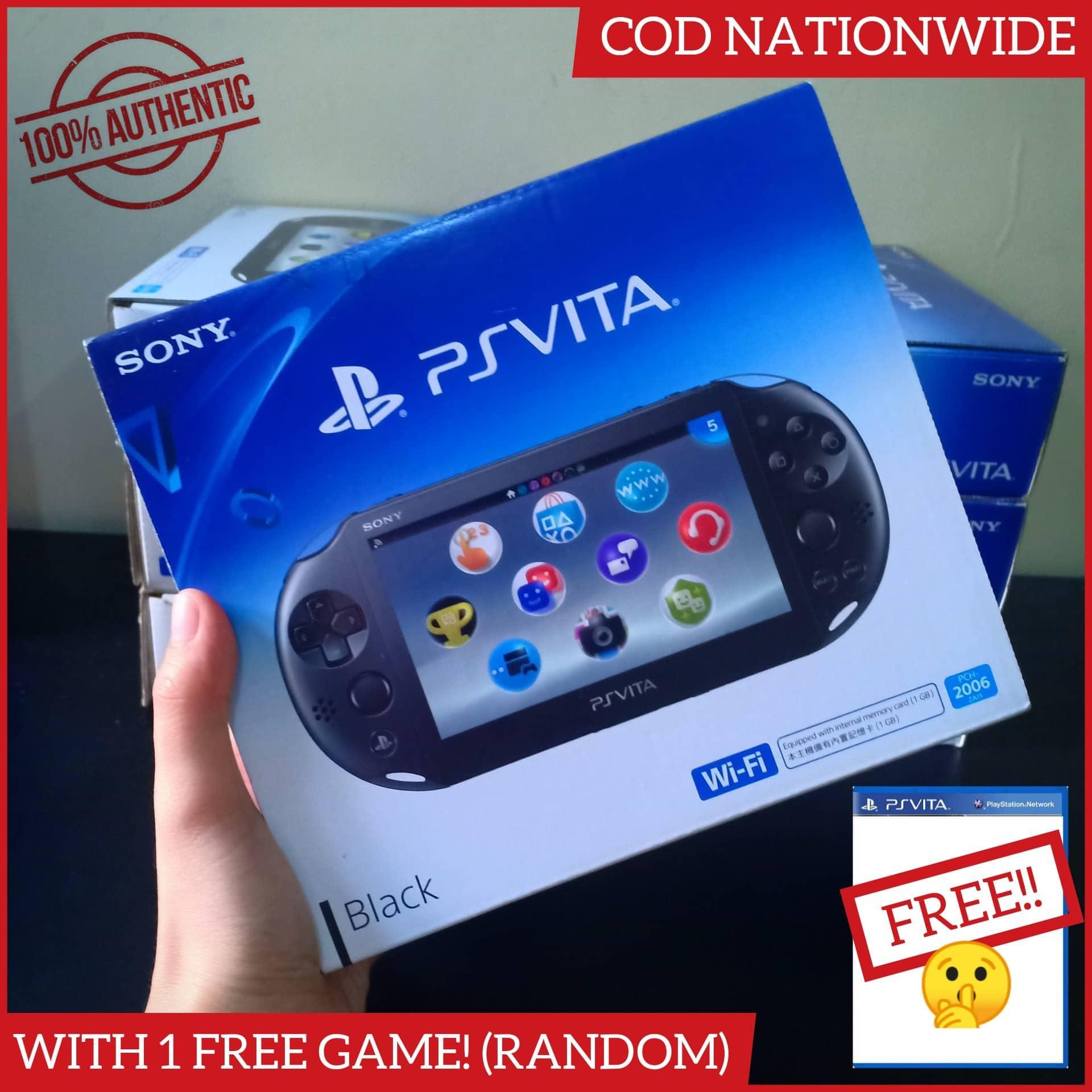 Brandnew PS Vita Slim Black Wifi Model with Warranty Latest Version  (Complete)
