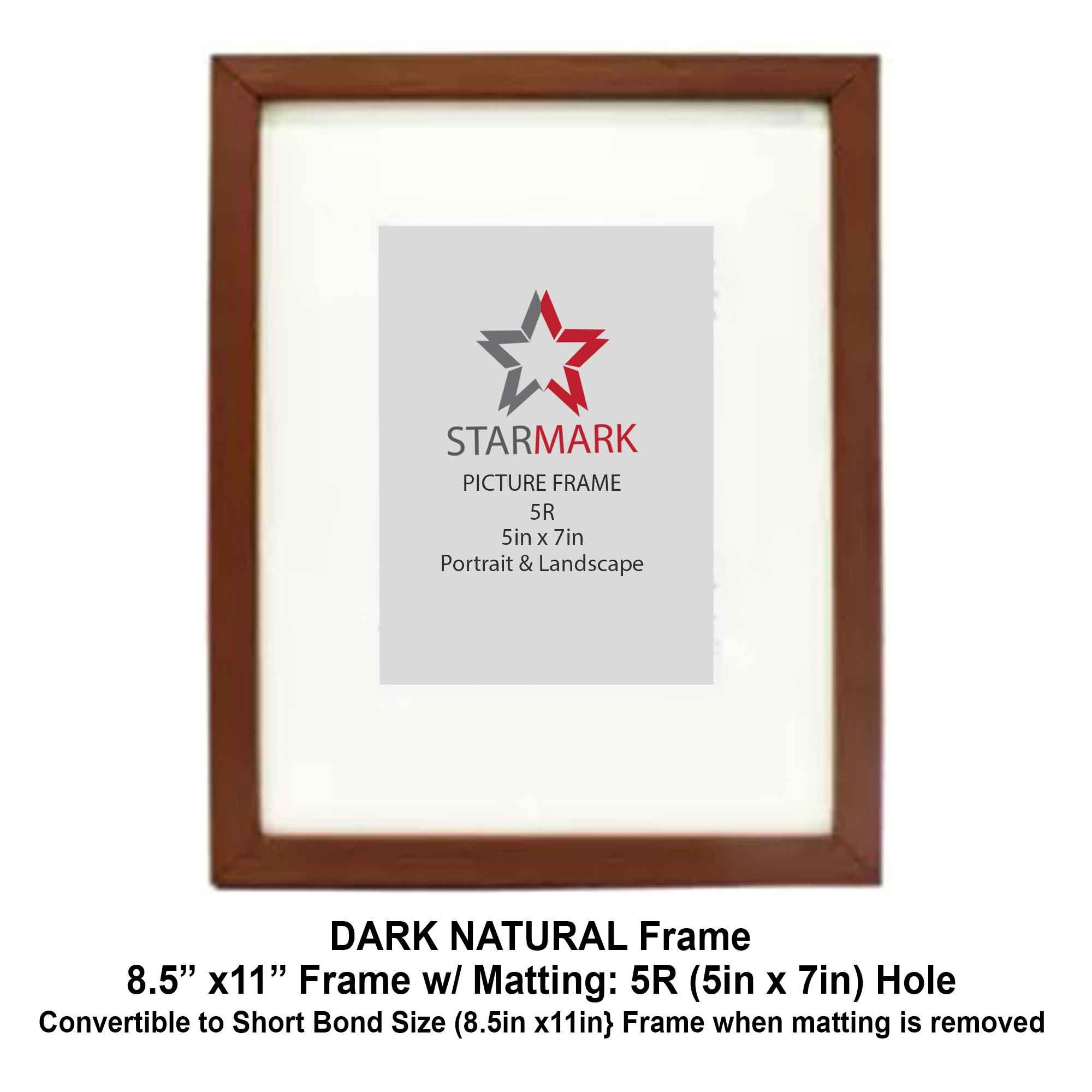 23c34f2fef83 Starmark Picture Frame Frames 8.5x11 inches with Matting to 5R Photo - 5x7  inches -