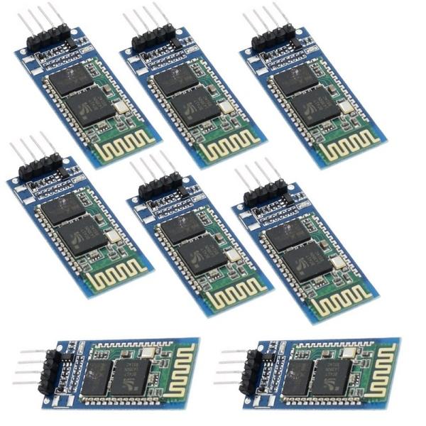 10Pcs HC06 HC-06 Wireless Serial 4 Pin Bluetooth RF Transceiver Module RS232 TTL for Arduino Bluetooth Module