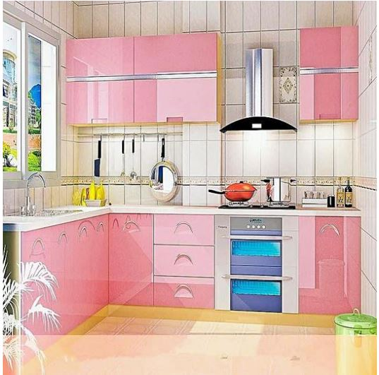 Wallpaper 40cm 5meter Pink Wallpaper Glossy Contact Paper Self Adhesive Peel And Stick Waterproof Wallpaper Removable Vinyl Film Decorative For Kitchen Cabinet Countertops Furniture Lazada Ph