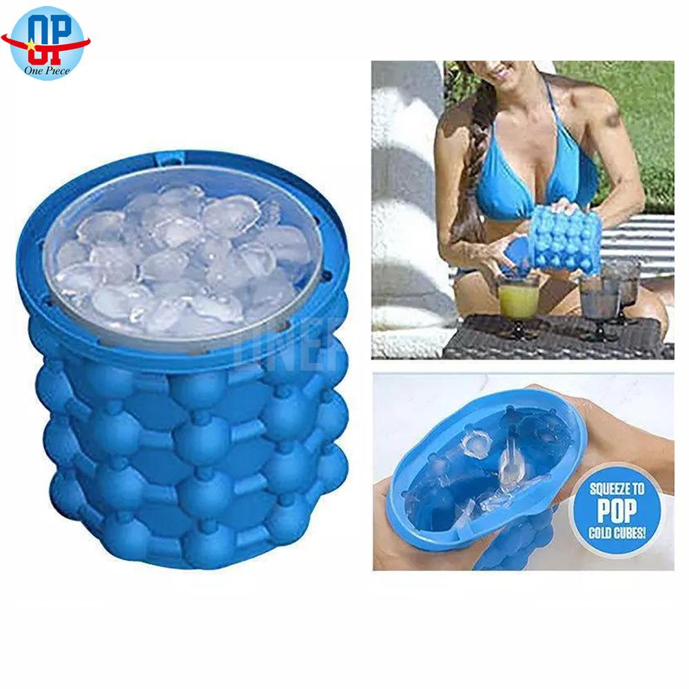 Ice Cube Maker Genie The Revolutionary Space Saving Ice Genie Kitchen Tools (blue) By One Piece.