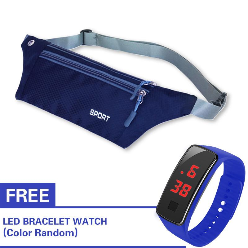 796f185d1643d5 Waist Pack Runners Belt Fanny Pack for Hiking Fitness Adjustable Running  Pouch With Free Watch