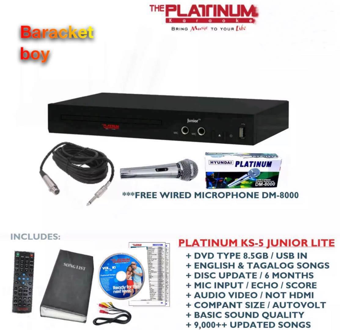 (Free Microphone) Platinum KS-5 Junior Lite Karaoke Player + DVD + Songbook  + Remote