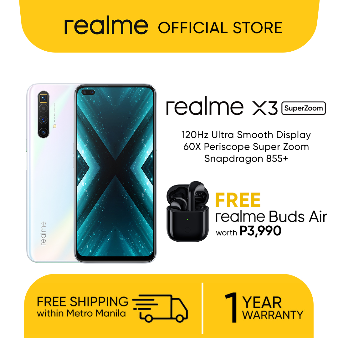 Realme X3 Superzoom Freebie Realme Buds Air Worth Php 3990