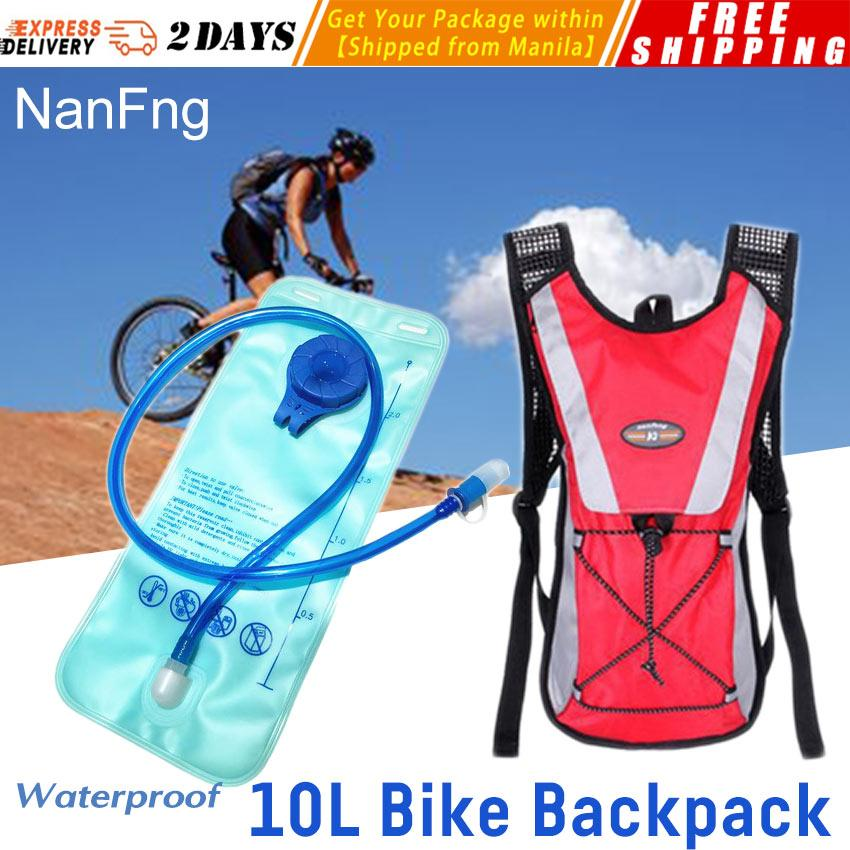 NanFng 2L Waterproof Water Bag Molle Military Tactical Hydration Backpack Outdoor Camping Camelback Nylon Camel Water