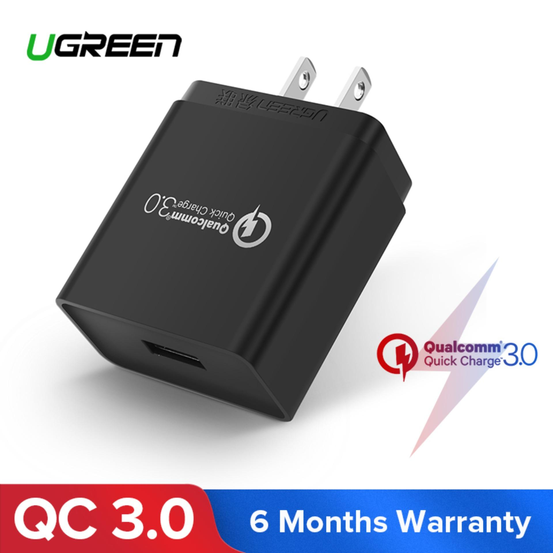 UGREEN Quick Charge QC 3 0 USB Wall Charger, 18W Fast Rapid Wall Charger  RedMi Note 7 Samsung S8 S9 S7 Note8/Note 9 S6 Note 5, LG V30 V20 G6 Stylo  3,